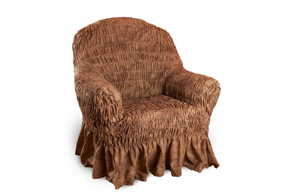 Чехол на кресло универсальный на резинке своими