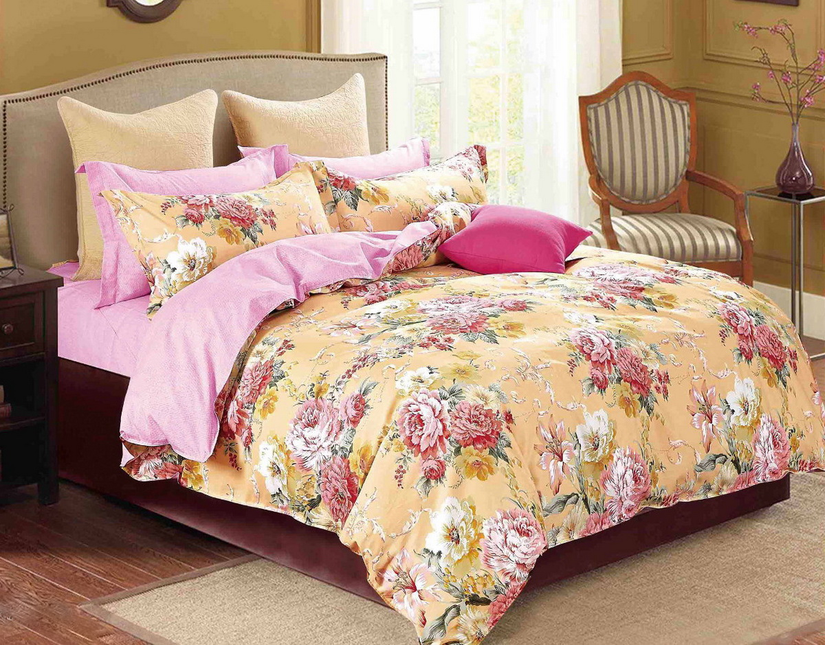 Комплект постельного белья евро сатин, постельное